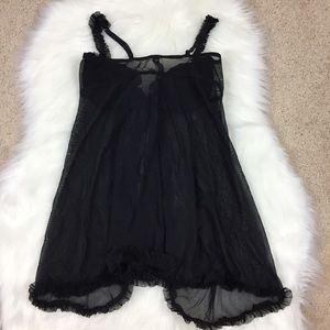 Victoria's Secret Intimates & Sleepwear - Victoria's Secret Black Lingerie Sequin Open Front